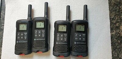 Motorola TLKR 4x T60 (8 Channels) Two Way Radio 8PMR Channel - Black