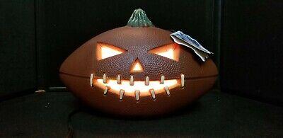 Gemmy Halloween lighted foam Jack O Lantern Pumpkin Football  Jack O Ball  #2