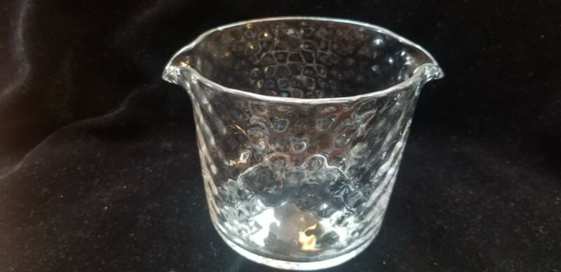 Antique Hand Blown Glass Crystal Double Spout Wine Rinser