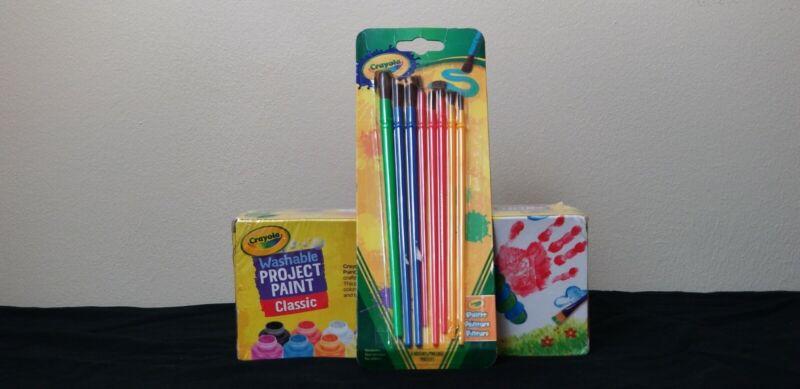 Crayola CYO541205 Washable Kids Paint Set of 10 Bottles 2 FL Oz 59 Ml with brush