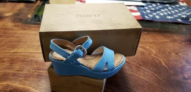 Born Leather Miniature  Salesman Sample Wedge Sandal