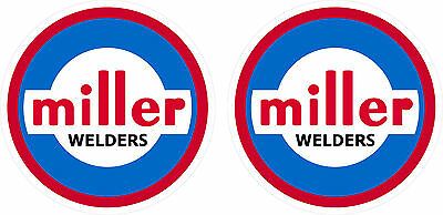 Pair Of Vintage Miller Welder Vinyl Decals 5 Size 60s 70s Tig Stick Mig