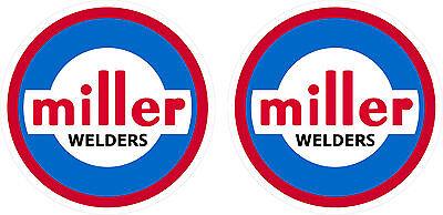 Pair Of Vintage Miller Welder Decals 2 Size 60s 70s Tig Stick Mig