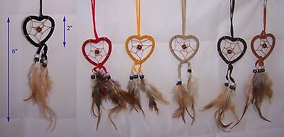 Hand Made Tribal   Dream Catchers - Wall Decorations  6 Pc Lot (NpDc150V  ^*)