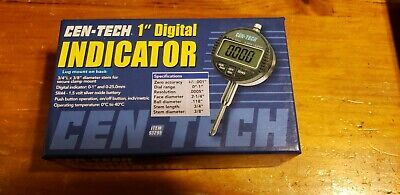 Cen-tech 1 Inch Digital Dial Indicator Inspection Lcd