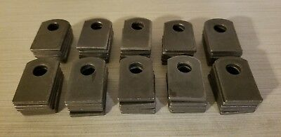 Weld On Fab Steel Flat Tab Brackets 1 X 1 12 X 18 Lot Of 50 Brackets