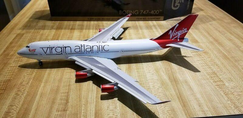 Gemini Jets Virgin Atlantic Airways B747-4Q8 1:200 G2VIR766F Flaps Down G-VBIG