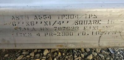 6in X 6in X 14in Wall Stainless Steel Square Tube 12in Piece