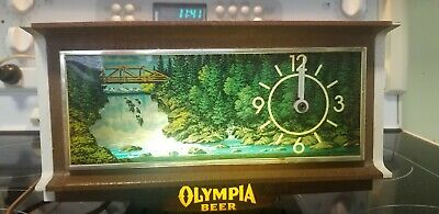 Olympia Beer motion illuminated cash register clock No. 9090 MOTION SIGN