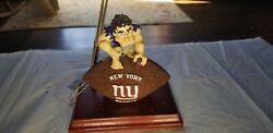 New York Giants Mascot Desk Set With Clock