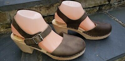 Lotta From Stockholm Womens Brown Shoes Highwood Clogs Size 9.5-10