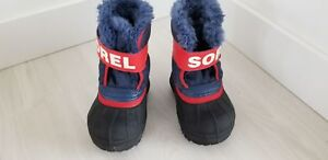 Toddler boys sorel size 5 navy blue