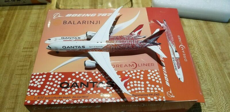 """NG Models Qantas Airways B 787-9 1:400 NA """"Balarnji"""" Colors. VH-ZND"""