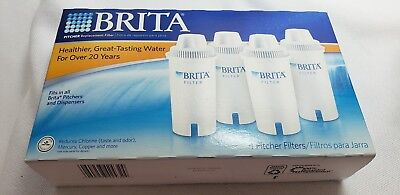 Brita Water Pitcher Replacement Filters 4 Count Sealed Box NEW