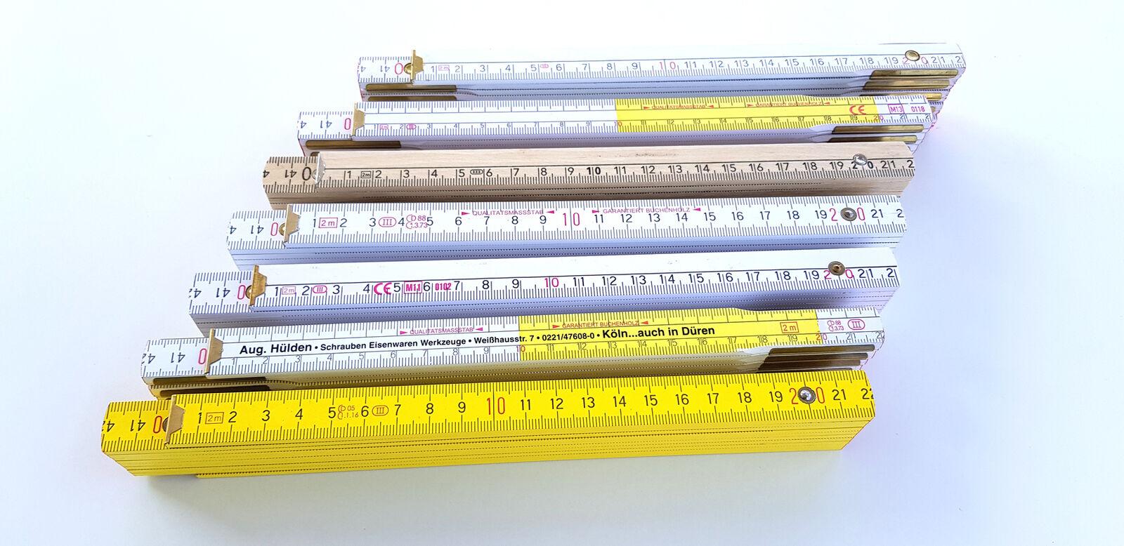 Qualitäts Zollstock 2m Gliedermaßstab Schmiege Meterstab Germany Meterstäbe