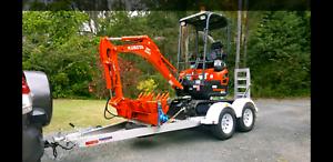 Excavator Hire $160 Tilt Bucket & Augers