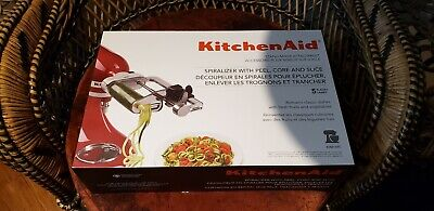 KitchenAid 5-Blade Spiralizer Stand Mixer Attachmentwith Peel, Core, and Slice
