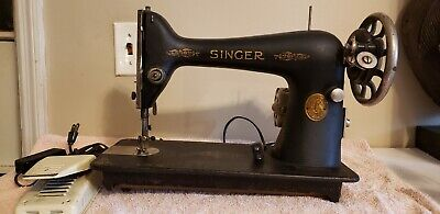 Used, VINTAGE SINGER SEWING MACHINE WITH PEDAL  AB467758 for sale  Augusta
