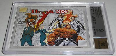 STAN LEE MARK BAGLEY 2014 Marvel Now and Then Dual Autograph Signatures BGS 9 💎 2