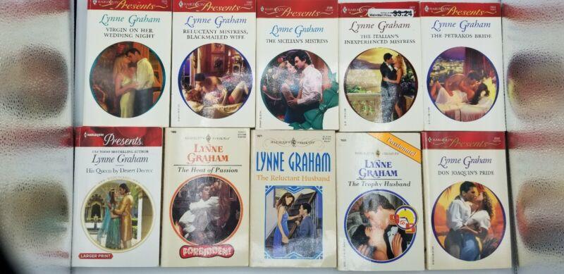 Harlequin Presents Lynne Graham lot of 10 romance paperback