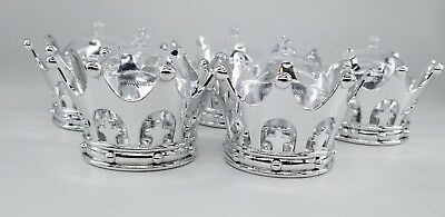 12X Baby Shower favors Fillable Sliver Crown Prince/princess Party Decorations/G