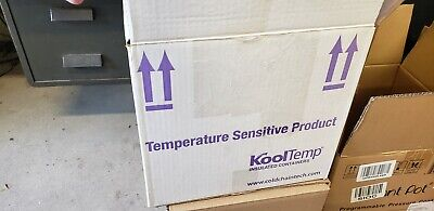 Insulated Styrofoam Cooler Shipping Container White Foam Kooltemptm Kt-12109