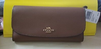 8cf4745e5c3bf8 Best Deals On Coach Pebble Leather Checkbook Wallet - comparedaddy.com