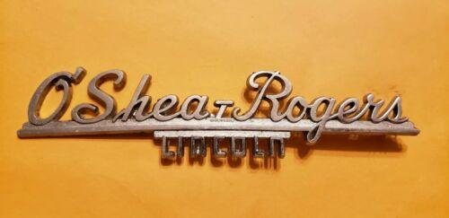 O'Shea-Rogers--Lincoln--Metal Dealer Emblem Car  vintage SM911