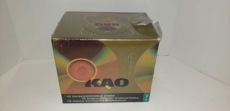 RARE Vintage KAO Cd-recordable 74 Min. 10 Pack