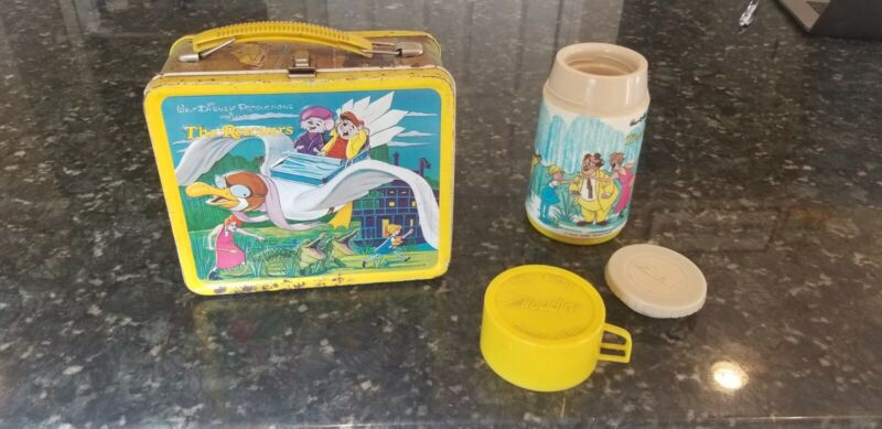 Disney The Rescuers Metal Lunch Box with Thermos walt disney productions