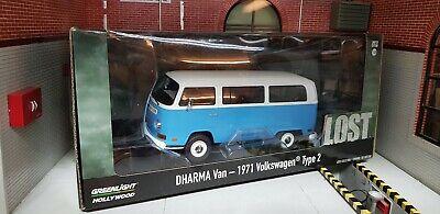 Lost Model Dharma Van VW Volkswagen Initiative Kombi 1:24 Scale Type 2 1971 Blue comprar usado  Enviando para Brazil