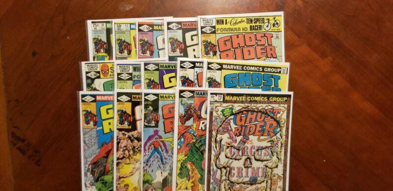 Ghost Rider Bronze Age comics 15 issue lot