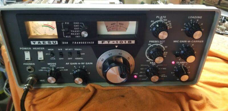 YAESU FT 101B HF TRANSCEIVER