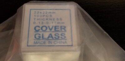 Capitolbrand Glass Microscope Slide Covers Slip 22 X 22 Mm 1 Thickness
