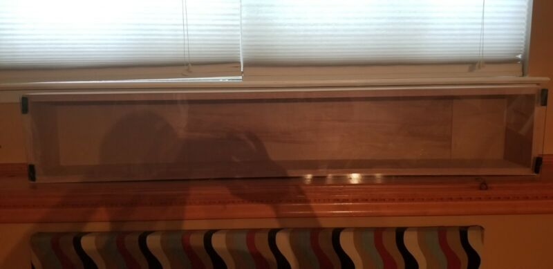 Oak Display Case w Plexiglass for Lionel Trains, Antiques, Collection