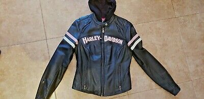 HARLEY-DAVIDSON Women's Pink Edition Miss Enthusiast 3-IN-1 Leather jacket Rare