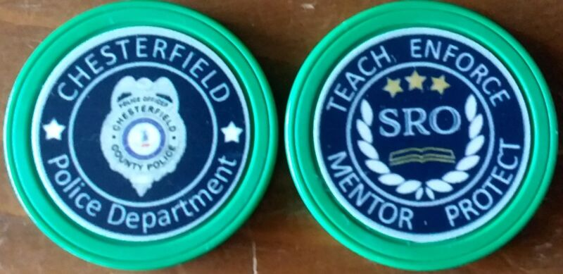 Chesterfield County Police SRO Challenge Coins