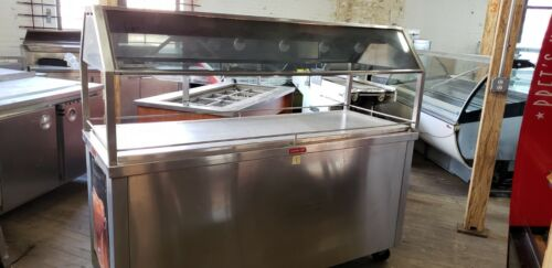 Electric Hot Food Buffet Cart on Casters Warming Table Hot Buffet