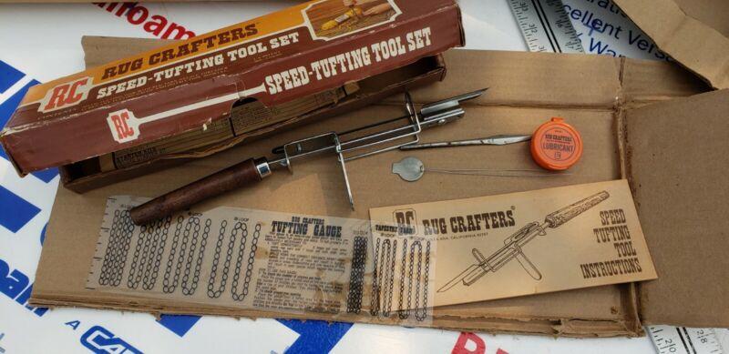 Vintage Rug Crafters Speed Tufting Tool Set in Original Box