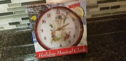 Mark Feldstein & Associates Christmas Carol Holiday Musical Clock Snowman