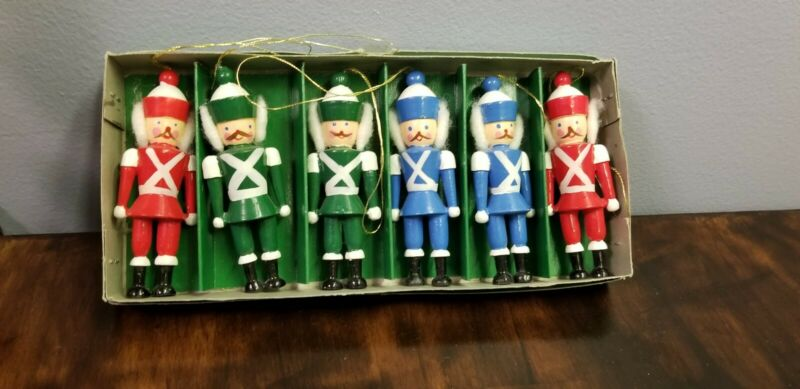 Vintage Nutcracker Wooden Christmas Ornaments Lillian Vernon