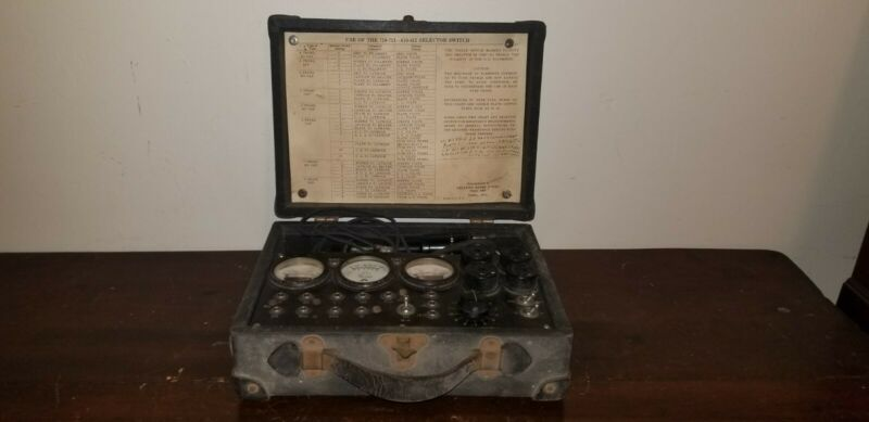 Very Early Antique Radio Tube Tester Readrite Model 710