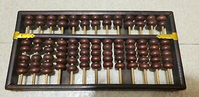 Vintage Lotus Flower Brand Wood Abacus Peoples Republic of China 13 Rods 91 Bead