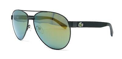 LACOSTE Sunglasses L185S 315 Green Matte Aviator (Lacoste Aviators)