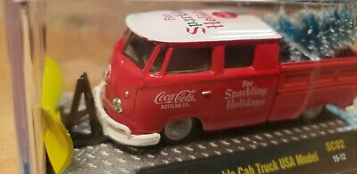 M2 MACHINE COCA-COLA 1959 VW Double cab truck USA model with Christmas Tree