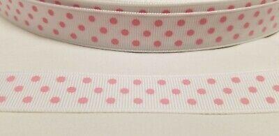 Swiss Dot Ribbon (Offray Polka Dot Grosgrain Ribbon 5/8