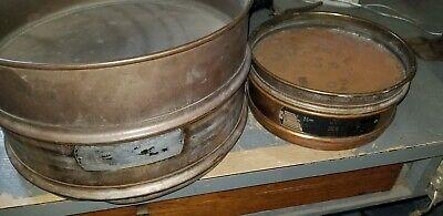 Set U.s.a Standard 8 Test Sieve Unbranded 12 Soiltest Astm 11 Brass