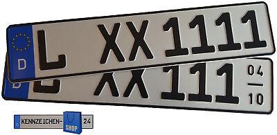 2 Kfz-Kennzeichen 520x110 Nummernschilder Autoschilder Autokennzeichen