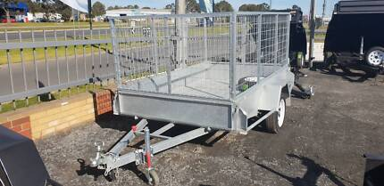 7X5 HEAVY DUTY|SINGLE AXLE|GALVANISED|3FT GAL CAGE|750KG GVM| Traralgon East Latrobe Valley Preview