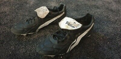 Puma King Duo Flex Black Leather Football Boots Uk Size 9